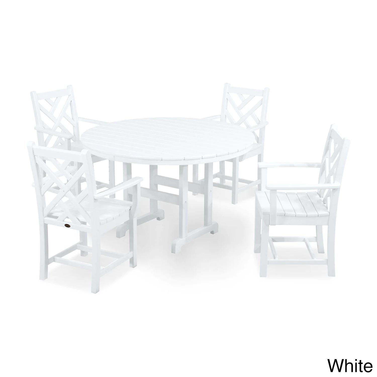 POLYWOOD Chippendale 5-Piece Outdoor Dining Set