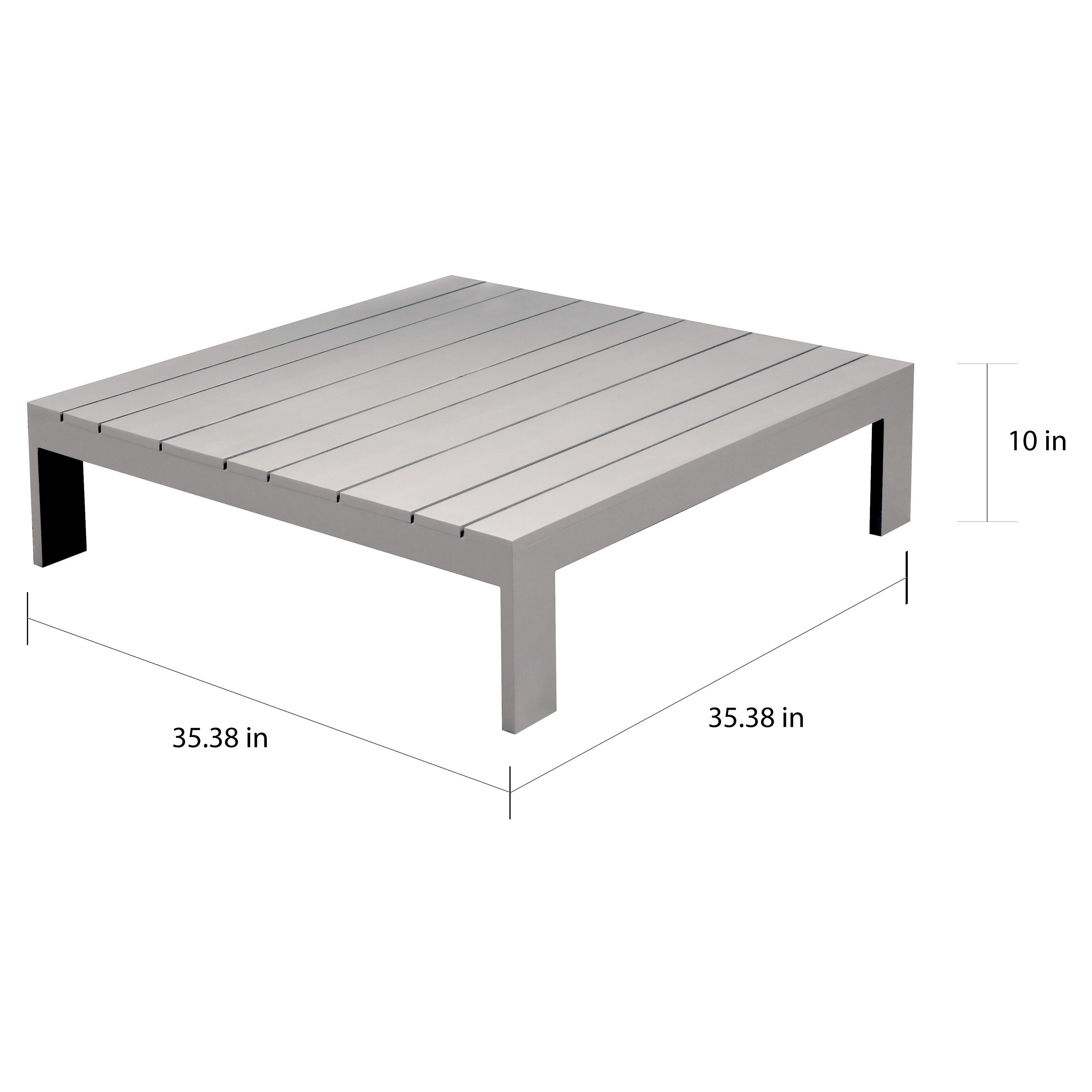 Covelo Grey Patio Coffee Table by Havenside Home