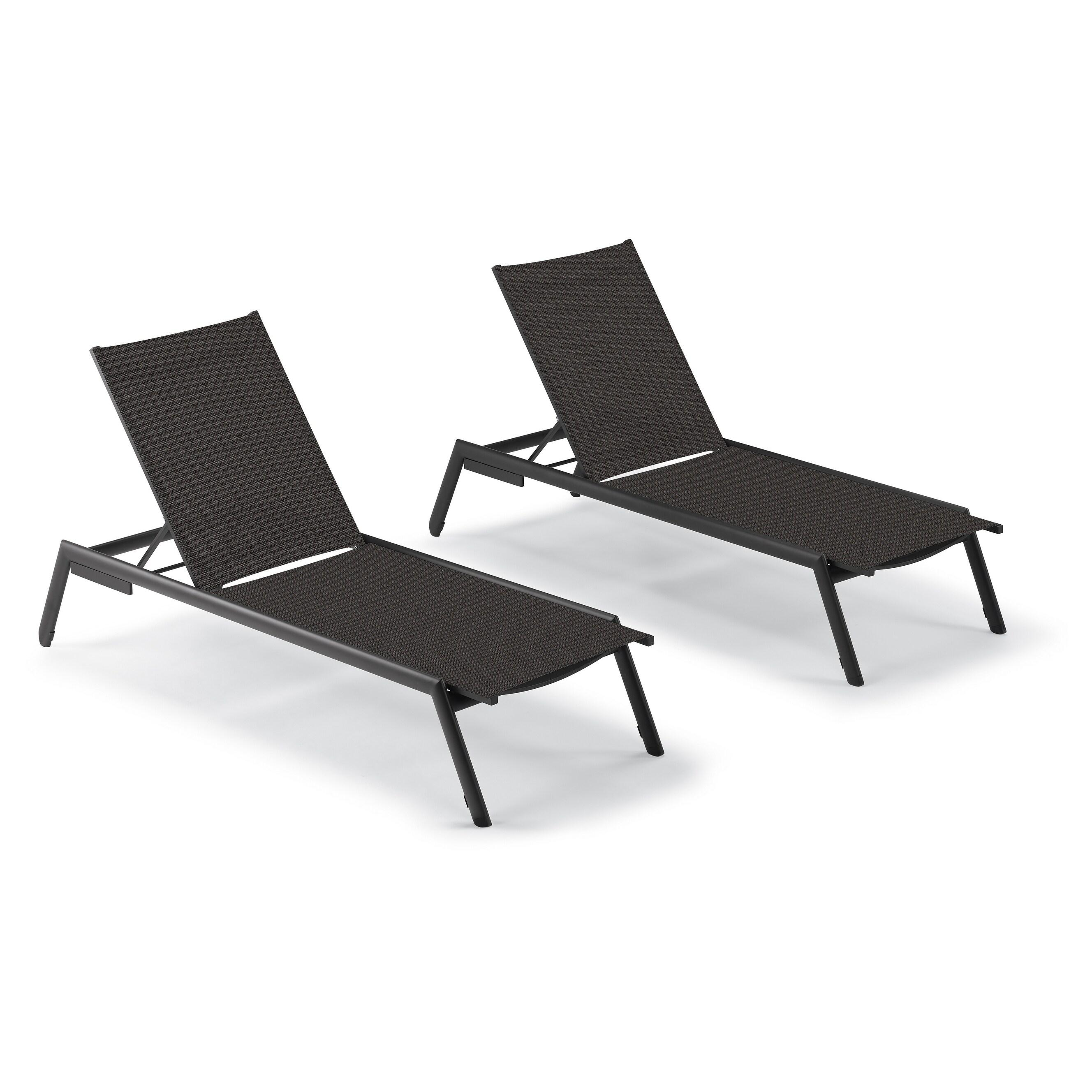 Eila Carbon Armless Chaise Lounge Chairs (Set of 2) by Havenside Home