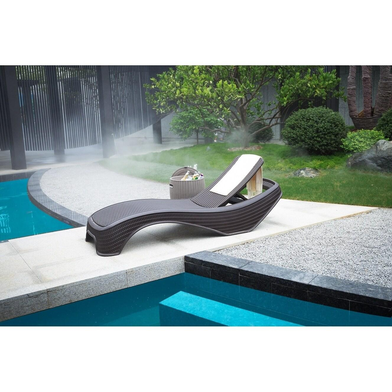 Outdoor Adjustable Chaise Lounges Set of 2 Lounges by Moda Furnishings - Grey