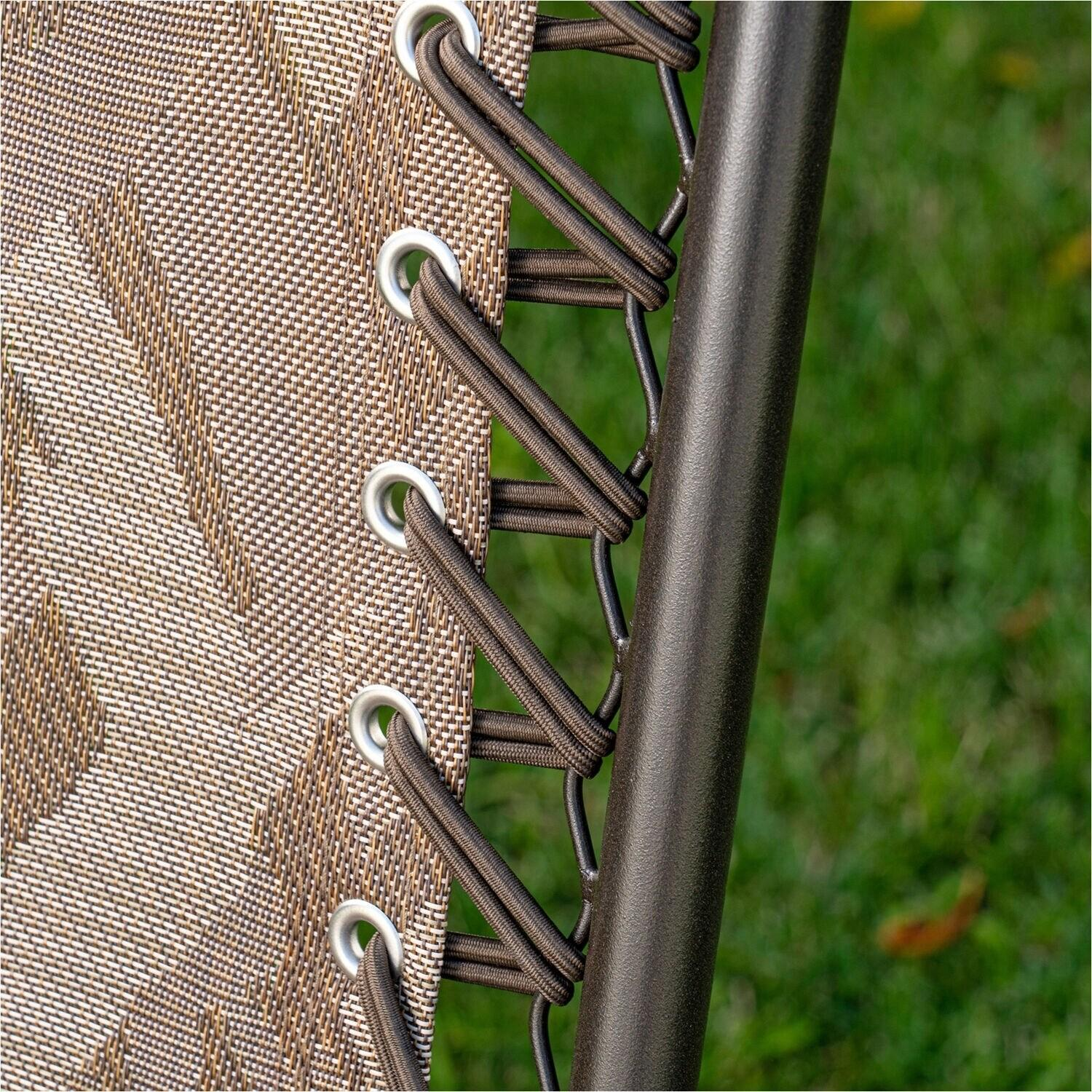 Hanover Elkhorn 3-Piece Portable Camo Seating Set featuring 2 Folding Lawn Chairs and Folding Side Table
