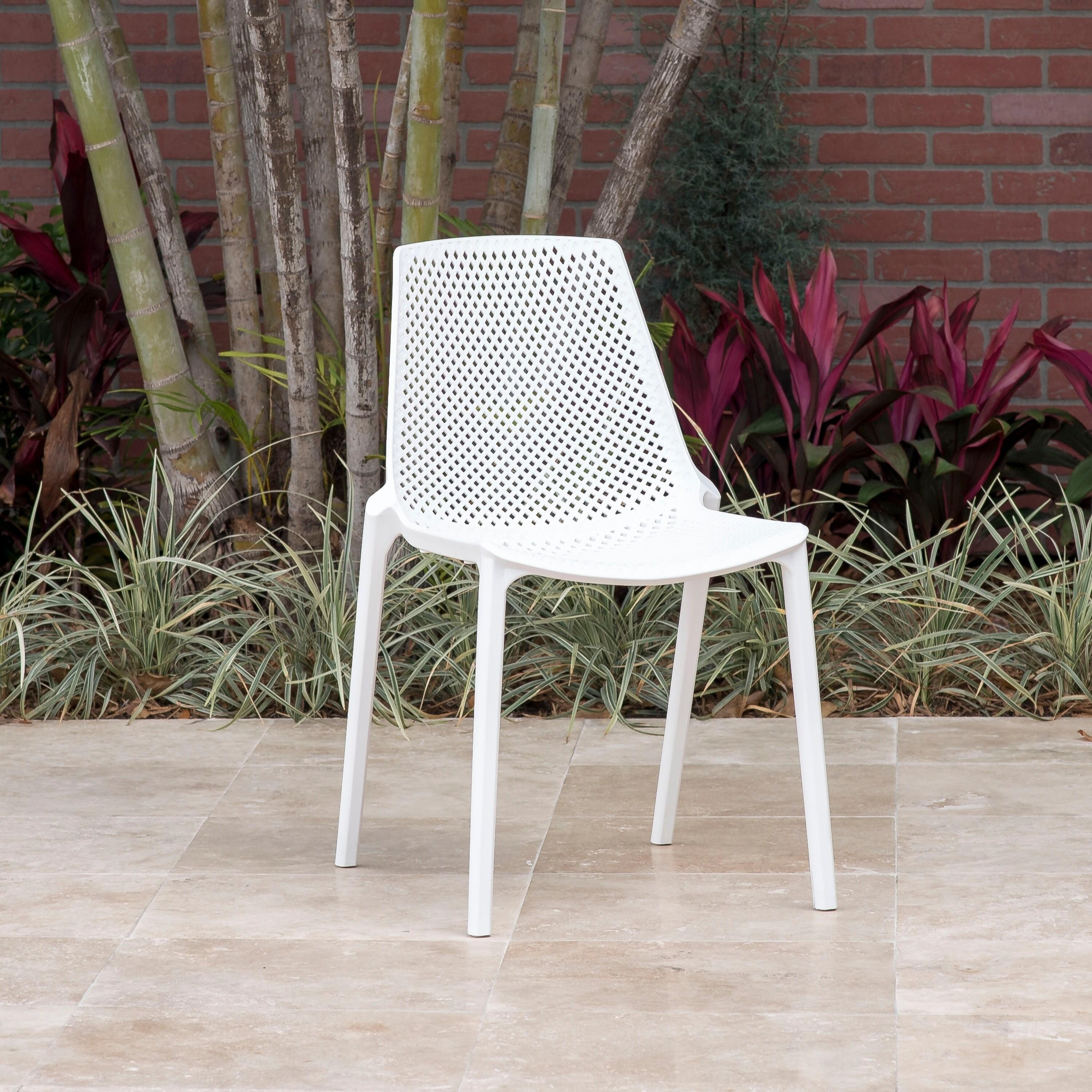 Perce White 9-piece Rectangular Side Chair Patio Dining Set by Havenside Home