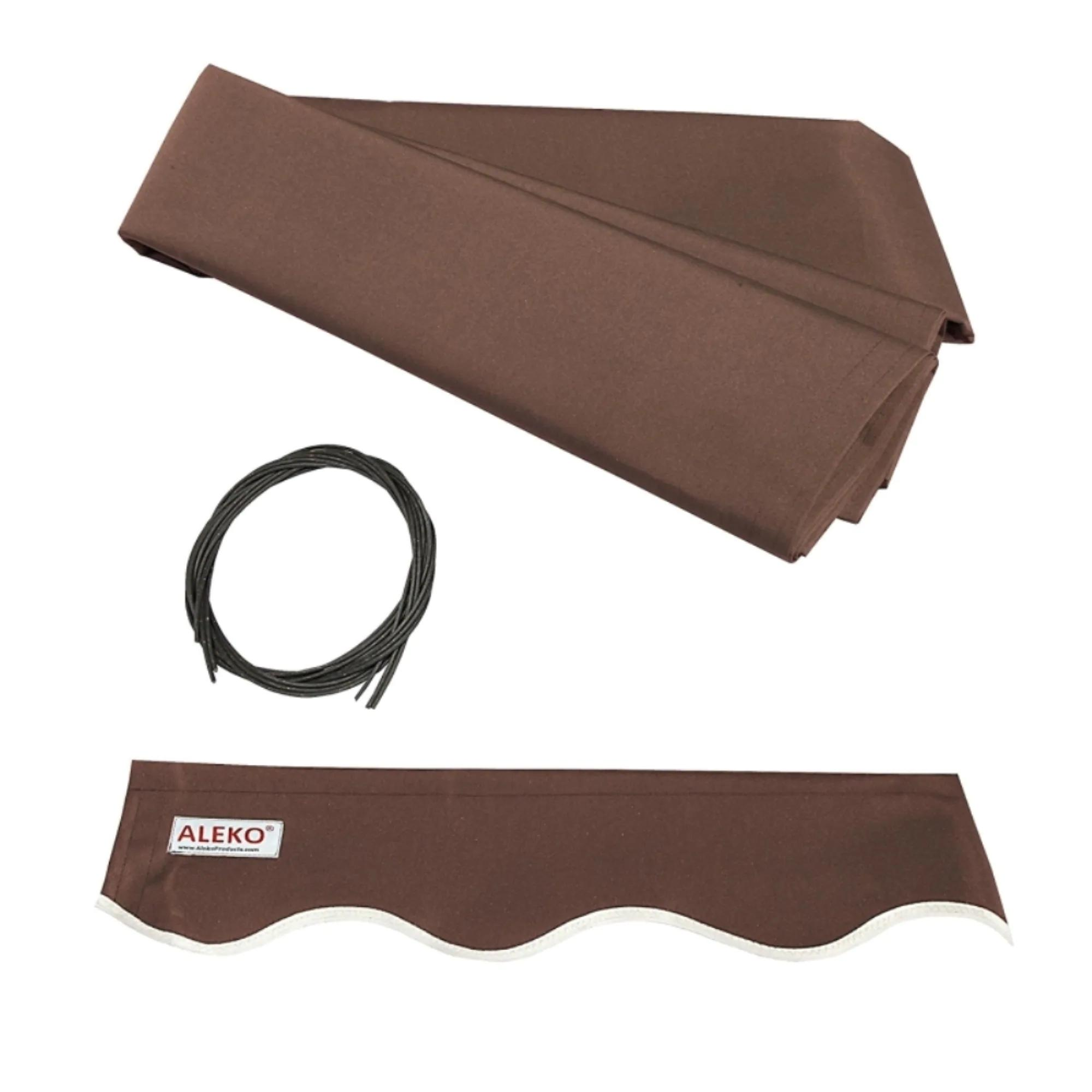 ALEKO Retractable 12 x 10 feet Awning Home Patio Canopy Brown
