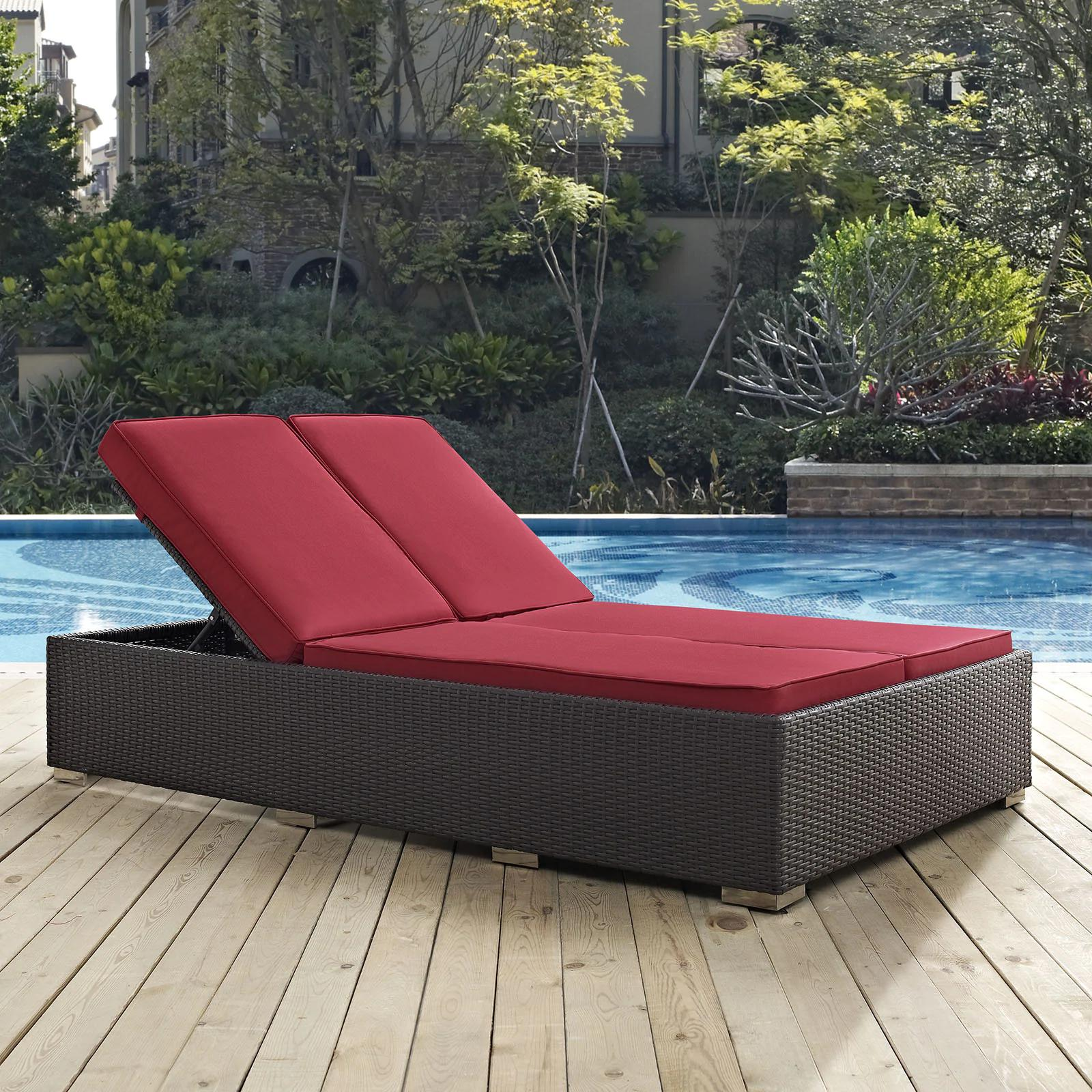 Bocabec Double Outdoor Patio Chaise by Havenside Home