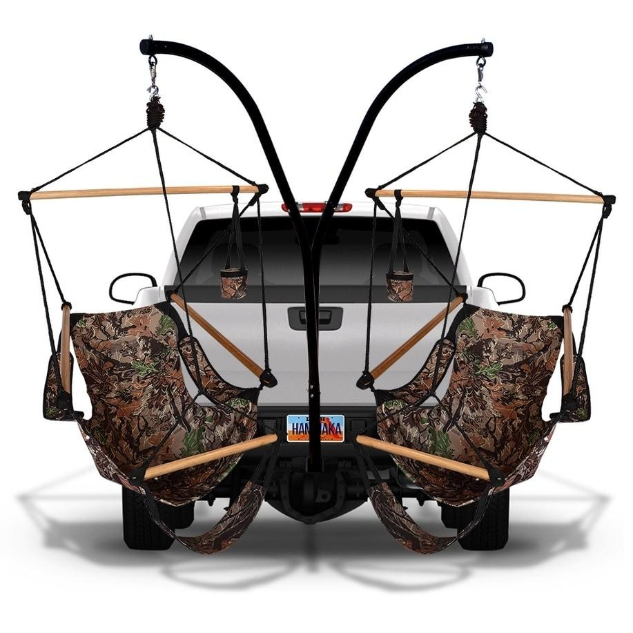 Hammaka Trailer Hitch Stand with Camo Cradle Chairs Combo