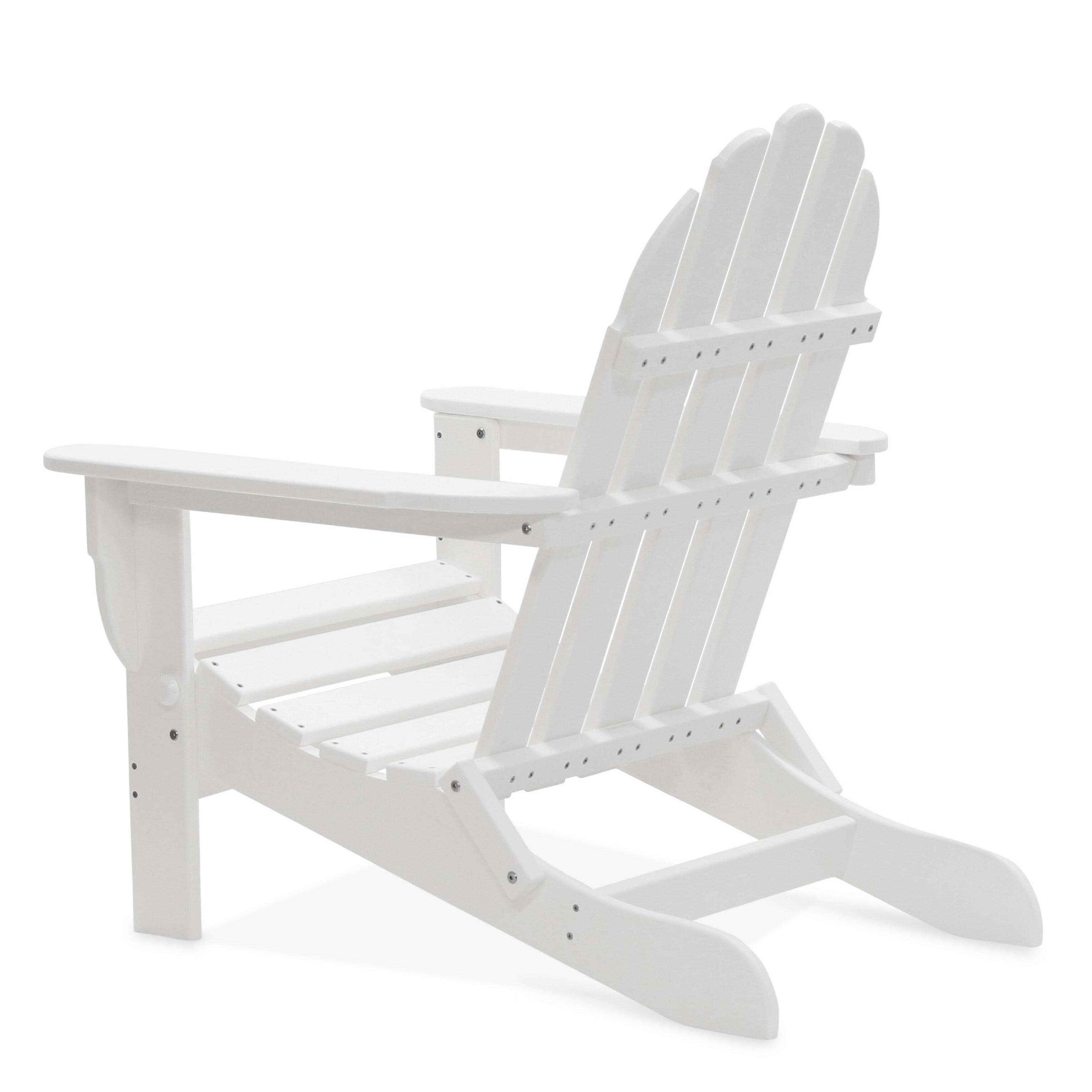 Nelson 3-piece Folding Adirondack Chair, Ottoman, and Side Table Set by Havenside Home