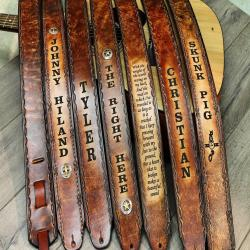 GUITAR STRAP, Personalized Guitar Strap, Leather Guitar Strap,Made in the